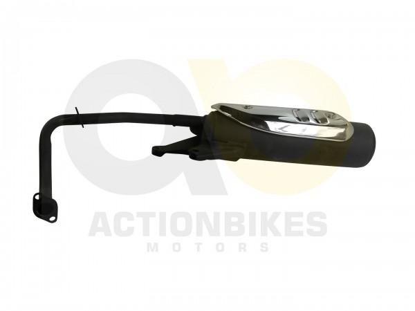 Actionbikes Baotian-BT49QT-9F3-Auspuff-schwarz-mit-Chromblende 3138323130302D5441394F2D303430302D31