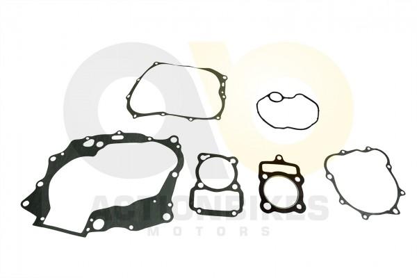 Actionbikes Shineray-XY200STII-Dichtungsset-Motor-komplet-Zylinderkopf-Metall--Dichtung-Ventildeckel