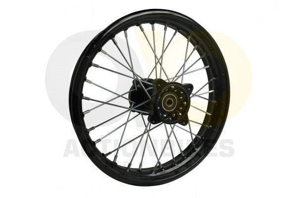 Actionbikes Huabao-Crossbike-JC125cc-Felge-hinten-schwarz-14-Zoll-neue-Version 48422D3132352D312D333