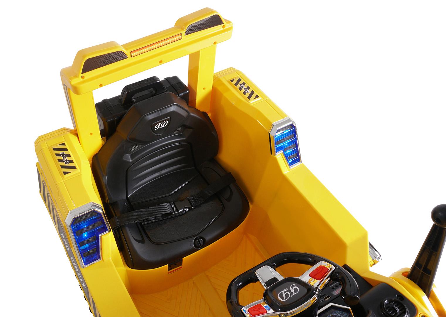 kinder elektrobagger d2810 gelb funktionsf hige schaufel. Black Bedroom Furniture Sets. Home Design Ideas