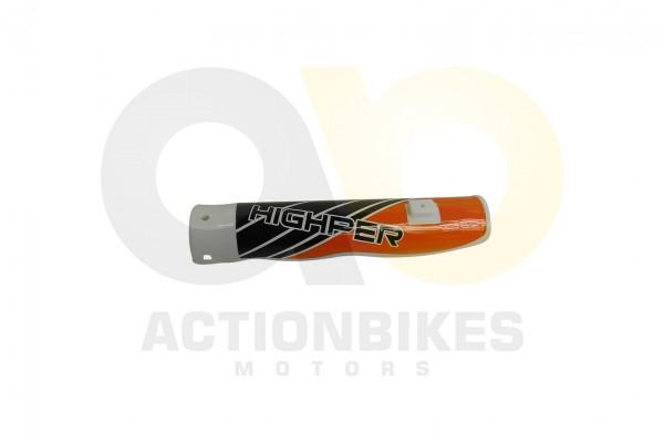 Actionbikes Highper-Mini-Crossbike-Gazelle-49-cc-2-takt--500W-Verkleidung-Gabel-vorne-links-Orange 4
