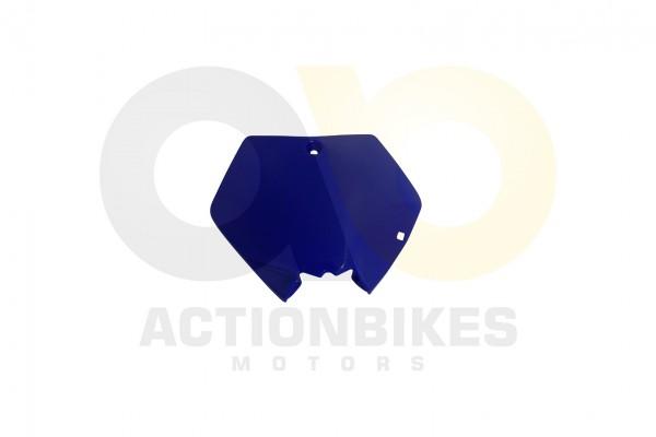 Actionbikes Mini-Crossbike-Delta-49-cc-2-takt-Verkleidung-Nummertafel-vorne-Blau-Neue-Version 48442D