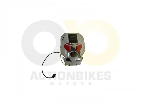 Actionbikes Elektromotorrad--Trike-Mini-C051-Schalterkulisse-Tank-mit-Schalter-Chrom 5348432D544D532