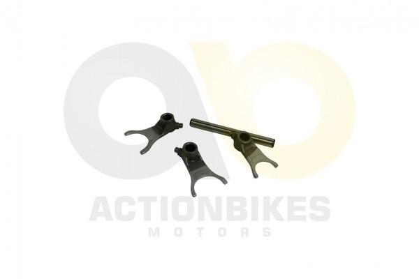 Actionbikes Egl-Mad-Max-300-Schaltgabelset-Schaltgabel-links-rechts-mitteSchaltgabelwelle 4D31302D31