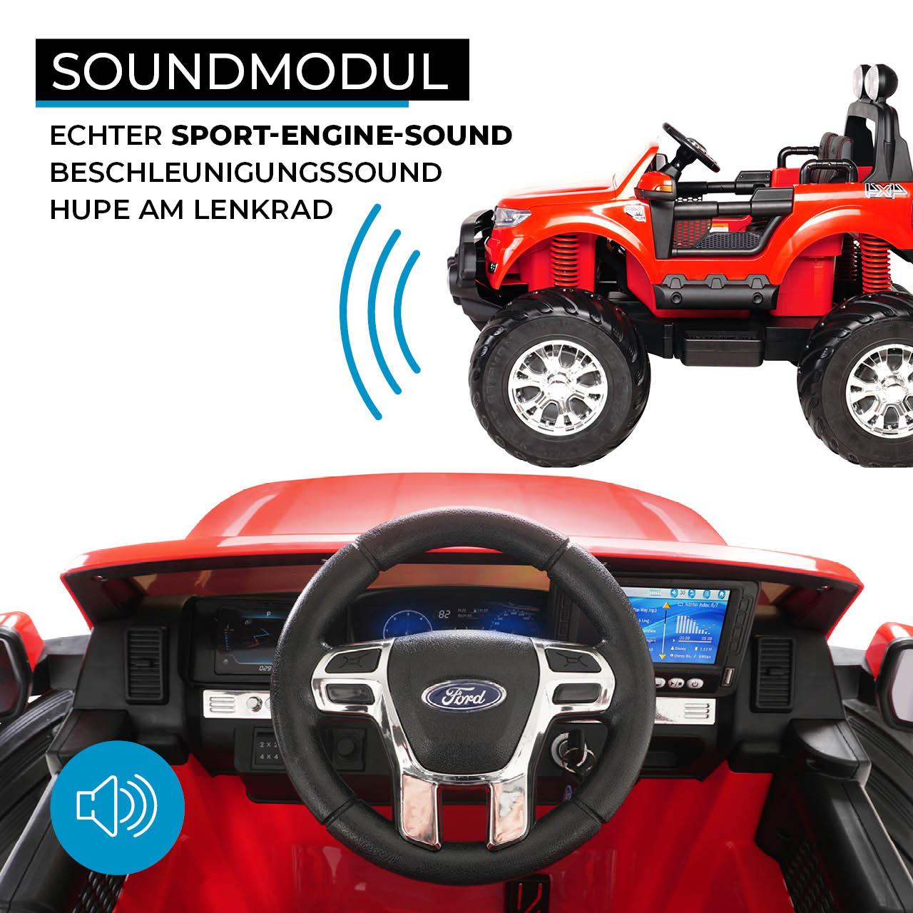 kinder elektroauto ford ranger monster truck allrad. Black Bedroom Furniture Sets. Home Design Ideas