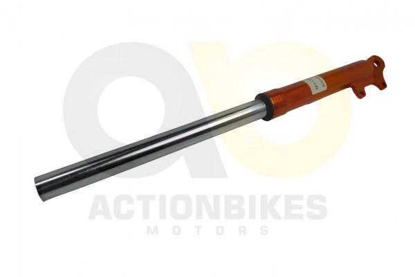 Actionbikes Mini-Cross-Delta-Stodmpfer-vorne-links-mit-Bremssattelaufnahme-orange 48442D3130302D3036