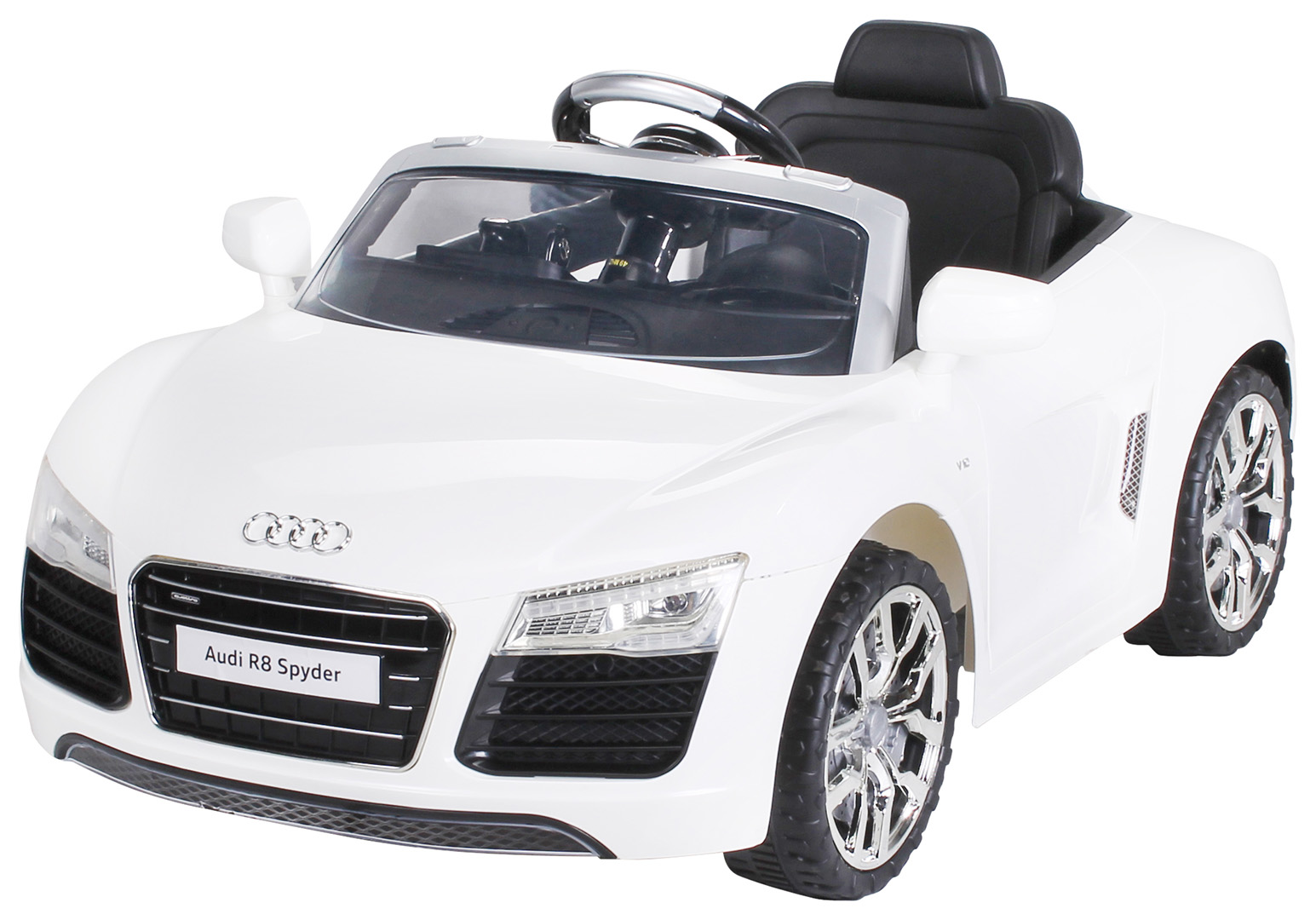kinder elektroauto audi r8 spyder lizenziert 2x35 watt. Black Bedroom Furniture Sets. Home Design Ideas