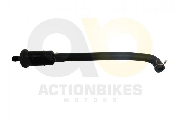 Actionbikes Shineray-XY250ST-9E--SRM--STIXE-Abgasrckfhrung-Schlauch-mit-Ausgangsbehlter 313830393030