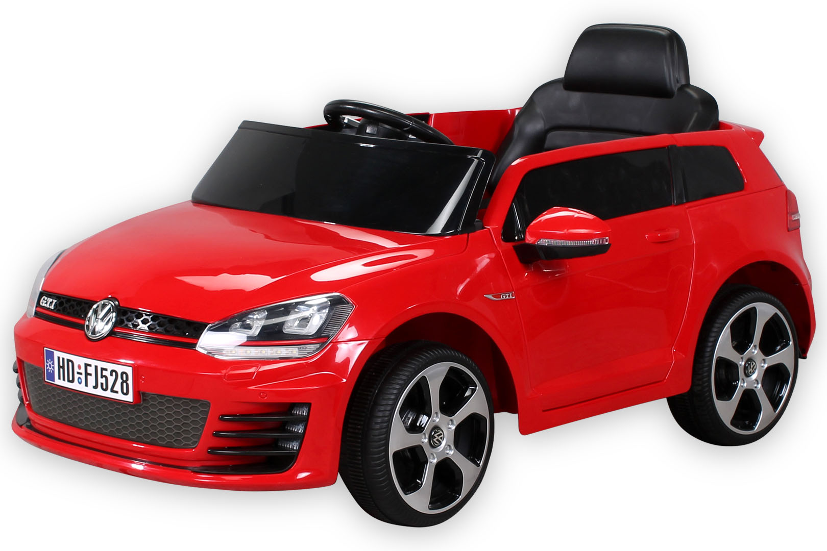 elektroauto vw golf gti kinderauto kinderfahrzeug kinder. Black Bedroom Furniture Sets. Home Design Ideas