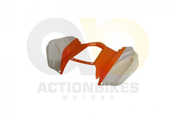 Actionbikes Miniquad-Elektro49-cc-Racer-Verkleidung-orangewei-hinten 57562D4154562D3032352D30362D31