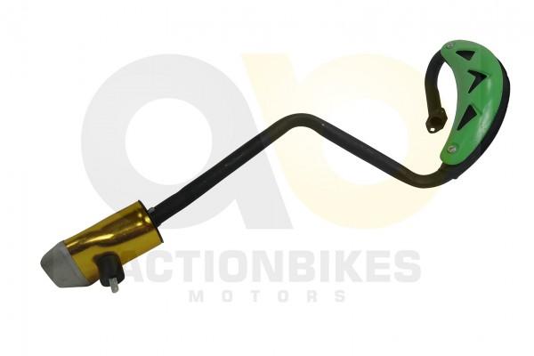 Actionbikes Mini-Cross-Delta-Auspuff-NEUE-VERSION-mit-grnem-Hitzeschutzblech 48442D3130302D3031322D3