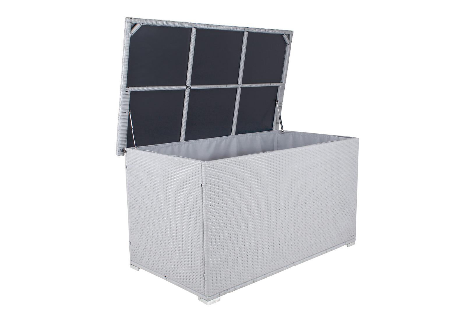 miweba xxl auflagenbox kissenbox 950l gartentruhe box polyrattan liege sitztruhe. Black Bedroom Furniture Sets. Home Design Ideas