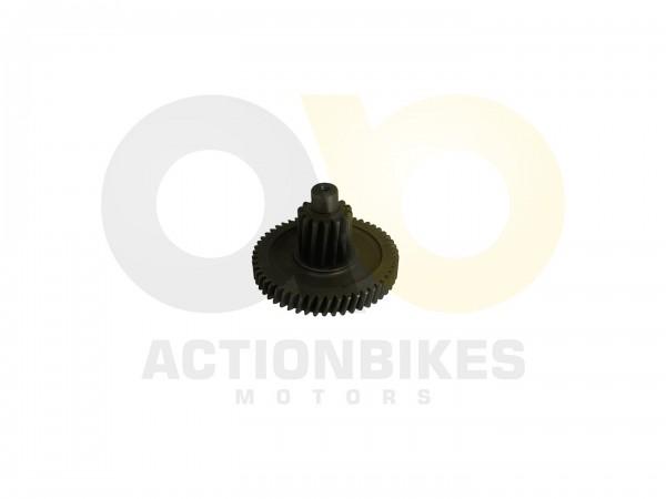 Actionbikes Motor-139QMA-Getriebe-Zwischenwelle-Zahnrad-Doppelt 3131353031302D313339514D412D30303030