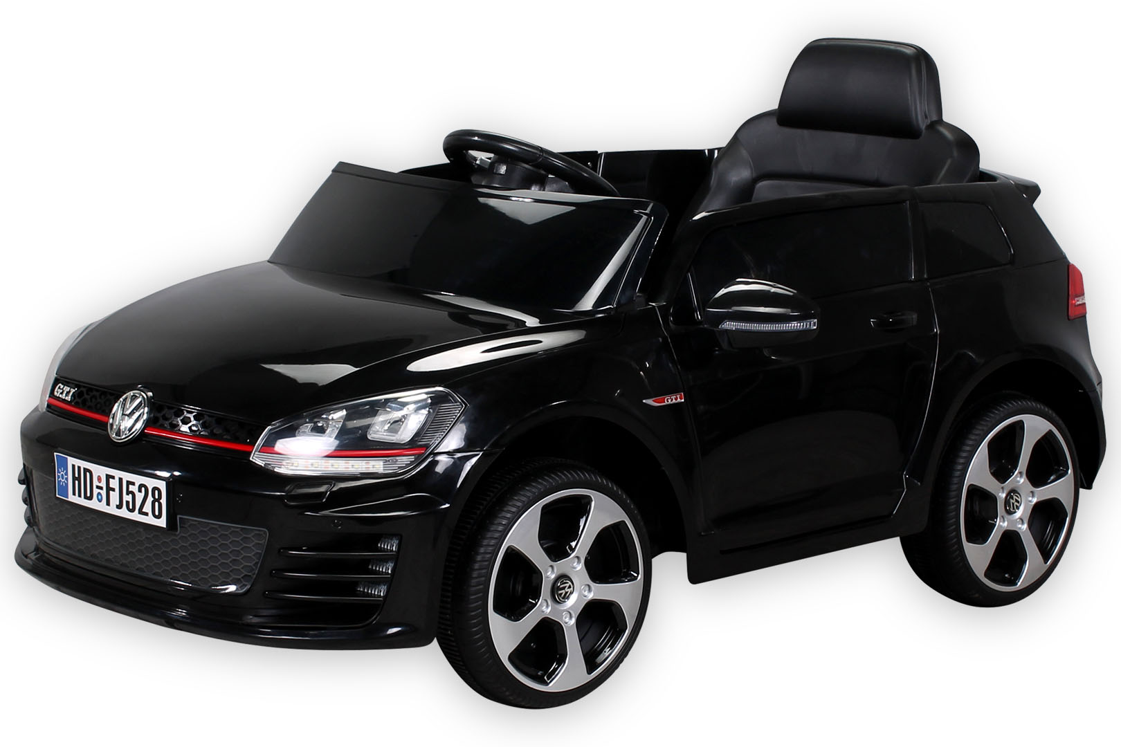 elektroauto vw golf gti kinderauto kinderfahrzeug kinder elektro auto 7ah akku ebay. Black Bedroom Furniture Sets. Home Design Ideas