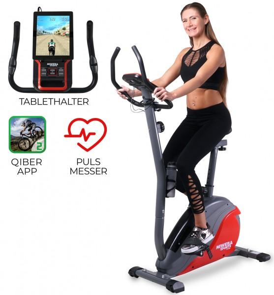 Miweba-Sports Ergometer-ME-400 Schwarz-Rot Startbild