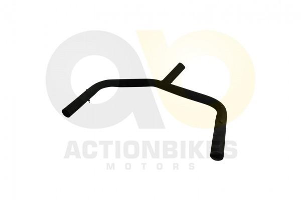 Actionbikes Speedslide-JLA-21B-Auspuff-Verteiler-schwarz-Y-Stck-erste-Serie-in-Krmmer 4A4C412D323142
