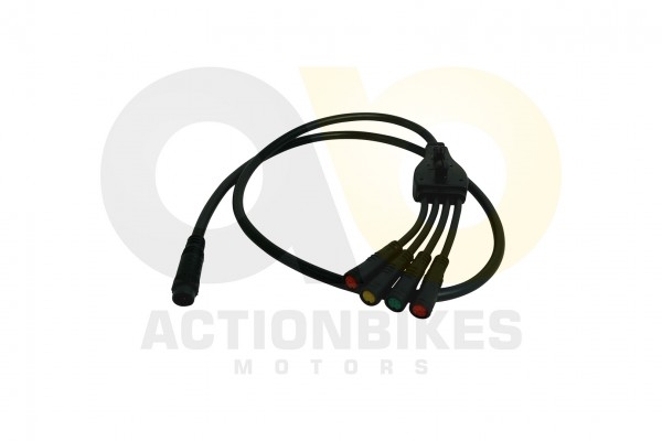 Actionbikes TXED-Alu-Elektro-Fahrrad-e-Forward-F--Verteiler-Kabel-SchaltdisplayBremslichtschalter---