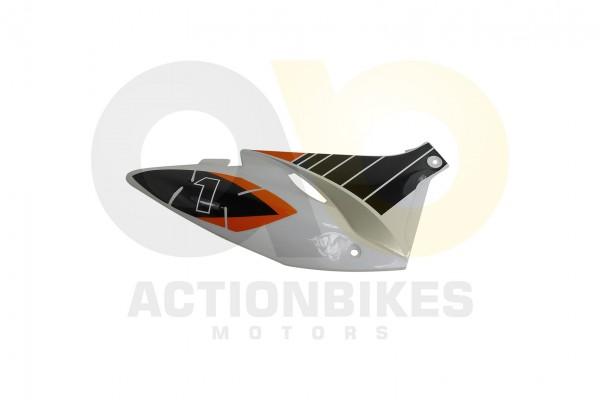 Actionbikes Highper-Mini-Crossbike-Gazelle-49-cc-2-takt--500W-Verkleidung-hinten-rechts-Orange 48502