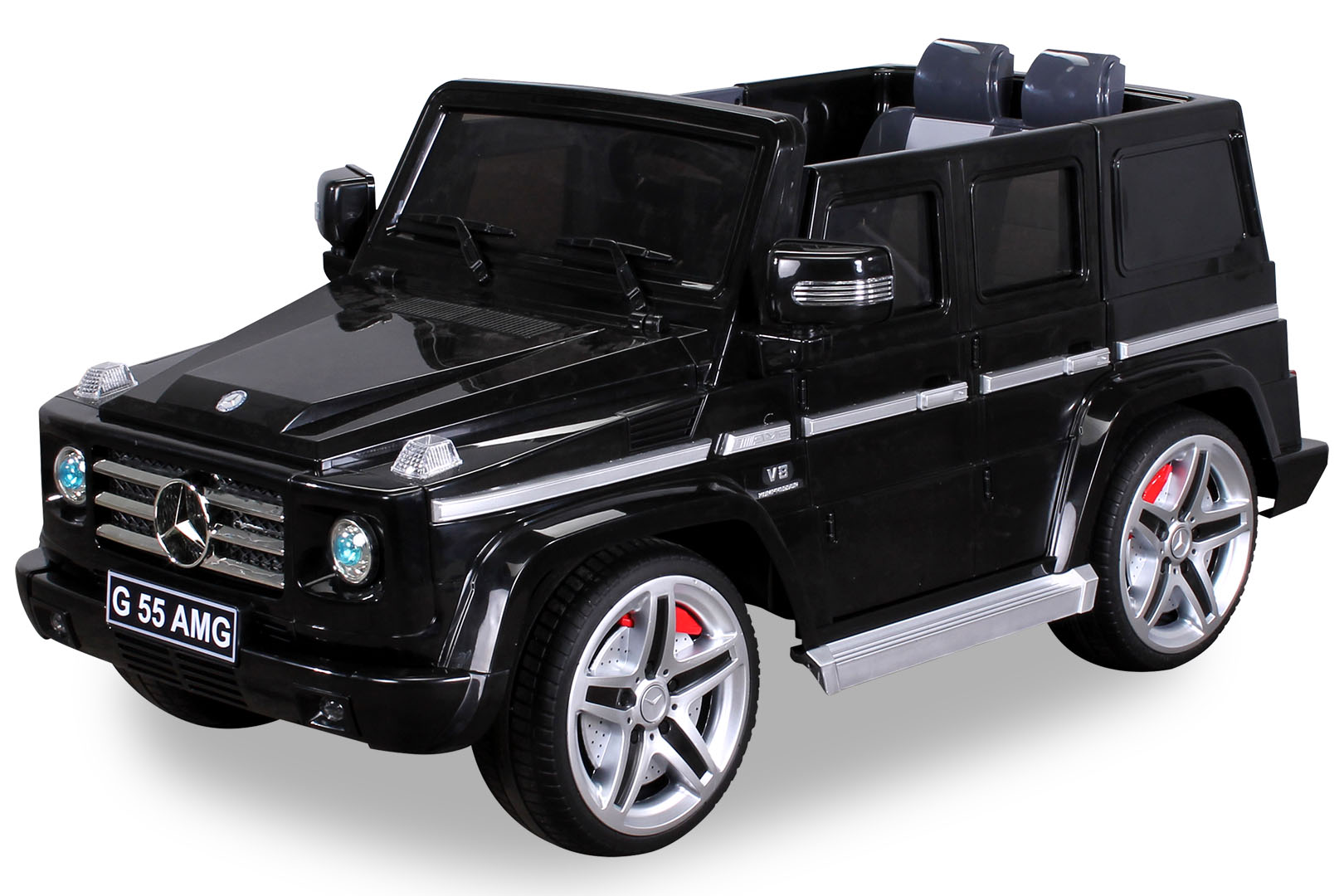 elektro kinderauto mercedes benz amg g55 high door leder sitz jeep suv kinderfahrzeuge. Black Bedroom Furniture Sets. Home Design Ideas