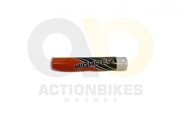 Actionbikes Highper-Mini-Crossbike-Gazelle-49-cc-2-takt--500W-Verkleidung-Gabel-vorne-rechts-Orange