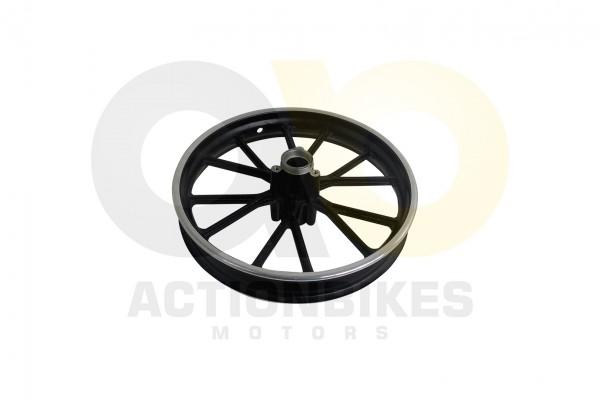 Actionbikes Highper-Mini-Crossbike-Gazelle-49-cc-2-takt--500W-Felge-vorne-schwarz-ohne-Lager-und-Hls