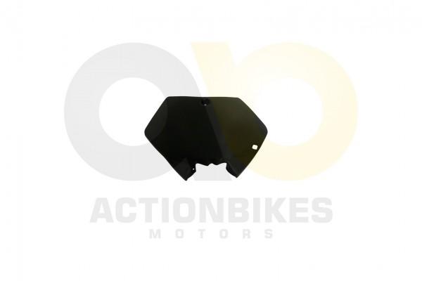 Actionbikes Mini-Crossbike-Delta-49-cc-2-takt-Verkleidung-Nummertafel-vorne-Schwarz-Neue-Version 484