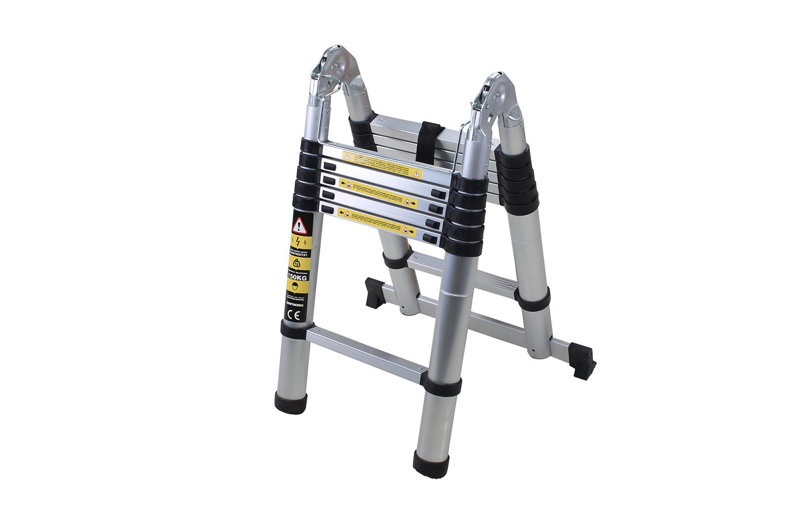 Craftworx aluminio escalera plegable escala telesc pica for Escalera telescopica 2 metros
