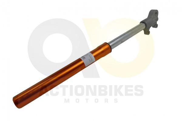 Actionbikes Mini-Cross-Delta-Stodmpfer-vorne-links-mit-Bremssattelaufnahme-NEUE-VERSION-orange 48442