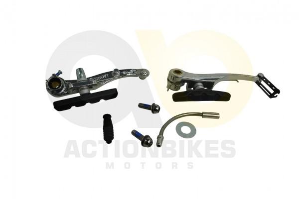 Actionbikes TXED-Alu-Elektro-Fahrrad-City-4000HT-Bremse-komplett-vorne-hinten 545845442D48542D303030
