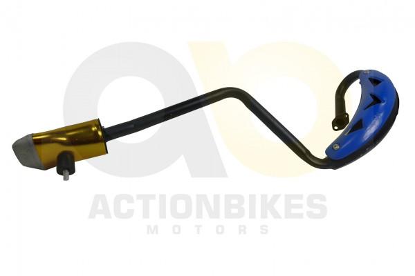 Actionbikes Mini-Cross-Delta-Auspuff-NEUE-VERSION-mit-blauem-Hitzeschutzblech 48442D3130302D3031322D