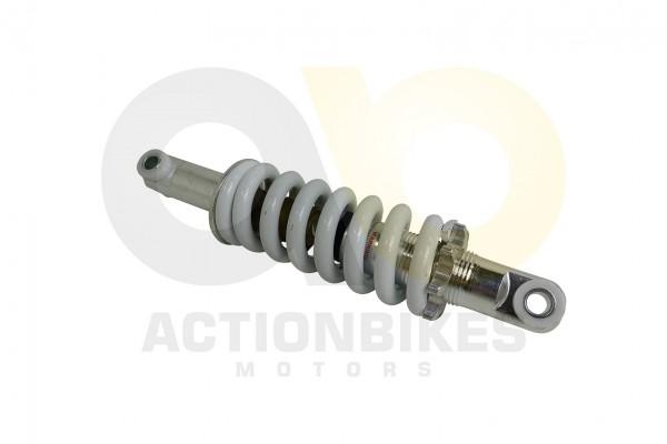 Actionbikes -Mini-Crossbike-Gazelle-49-cc-Stodmpfer-hinten-weie-Feder--195-cm-von-mitte-Auge-zu-mitt