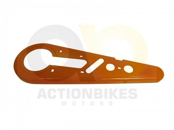 Actionbikes Mini-Crossbike-Delta-49-cc-2-takt-Kettenschutz-hinten-orange-Miniquad-Elektro49-cc-Racer