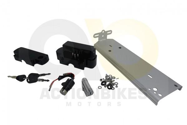 Actionbikes TXED-Alu-Elektro-Fahrrad-City-8000HC-B-Akku-halter-komplett--Schlssel 545845442D48432D30