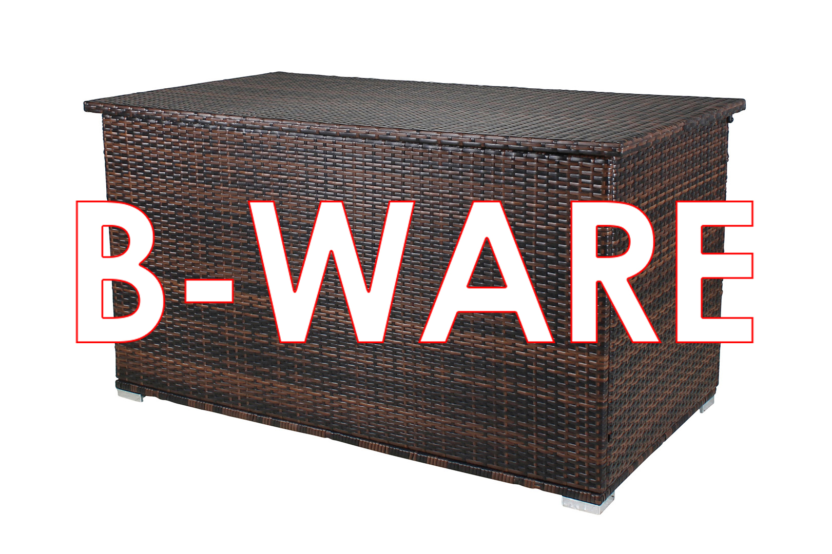 b ware miweba caribbian polyrattan auflagenbox grande 950 liter gartenm bel gebraucht b. Black Bedroom Furniture Sets. Home Design Ideas