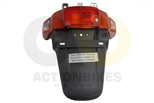Actionbikes Znen-ZN50QT-Revival-Rcklicht-komplett-mit-Nummernschildhalter 33333730322D414C41312D3930