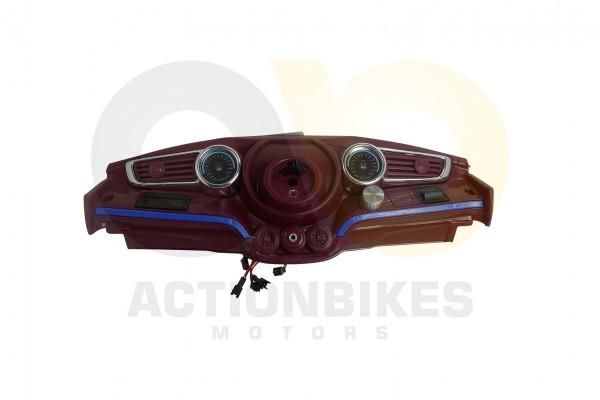 Actionbikes Kinder-Elektroauto-Spyder-A228-Amaturenbrett-komplett-weinrot 53485A312D413232393030362D
