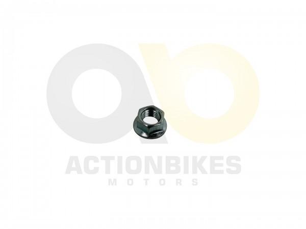 Actionbikes Motor-139QMA-Mutter-M10x125-fr-Kurbelwelle-und-Fliegkraftkupplung 47422F54363137372E312D