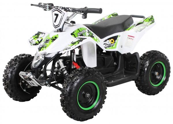 Actionbikes Miniquad-Fox-1000-watt Weiss-gruen 5052303031373839332D3032 startbild OL 1620x1080_91818