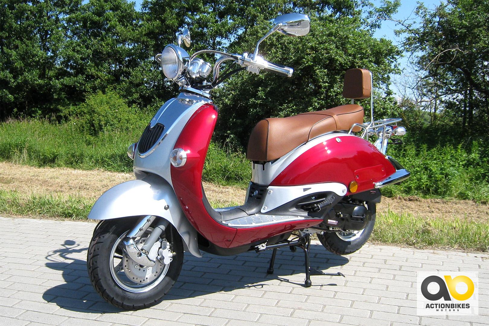 znen retro roller qt h50 45 km h motorroller 49cc. Black Bedroom Furniture Sets. Home Design Ideas