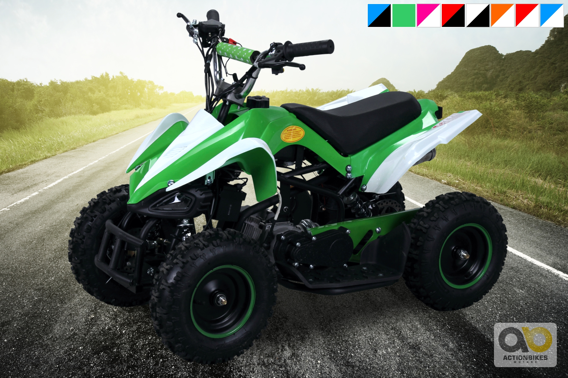 miniquad kinder atv racer 49cc pocketquad 2 takt quad. Black Bedroom Furniture Sets. Home Design Ideas