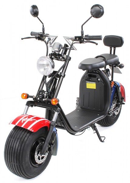 eflux harley two elektro scooter mit stra enzulassung. Black Bedroom Furniture Sets. Home Design Ideas