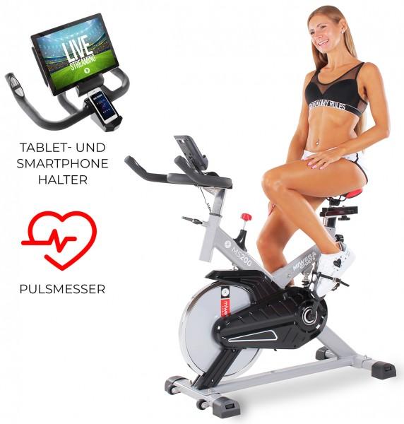 Miweba-Sports Startbild Fitnessbike MS200 Silber_102401