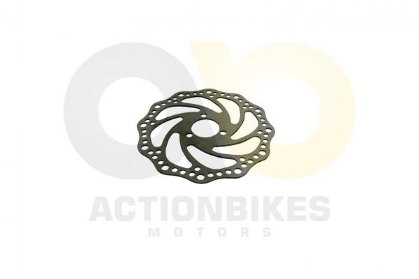 Actionbikes T-Max-eFlux-Freeride-1600-Watt-Bremsscheibe-vorne-hinten-Wave-d30D145-drei-Loch 452D3136
