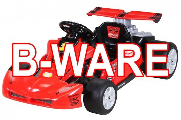 B-Ware Kinder Elektroauto Go Kart KD1999 2 x 20 Watt Motor 2x 6 Volt 4,5Ah  Rot