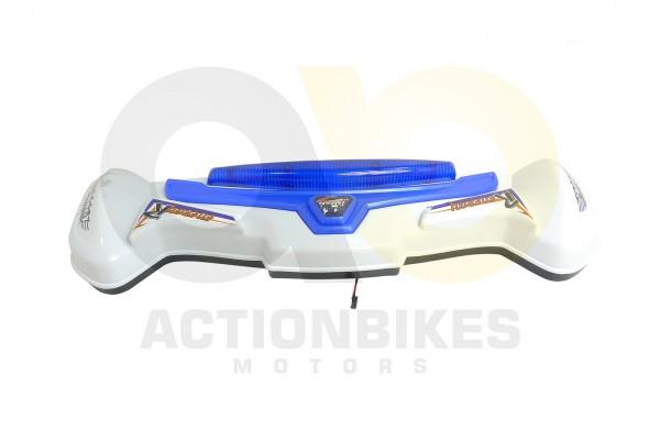 Actionbikes Elektroauto-Audi-Style-A011-8-Heckspoiler-wei-mit-blauer-Leuchte 5348432D41532D31303332