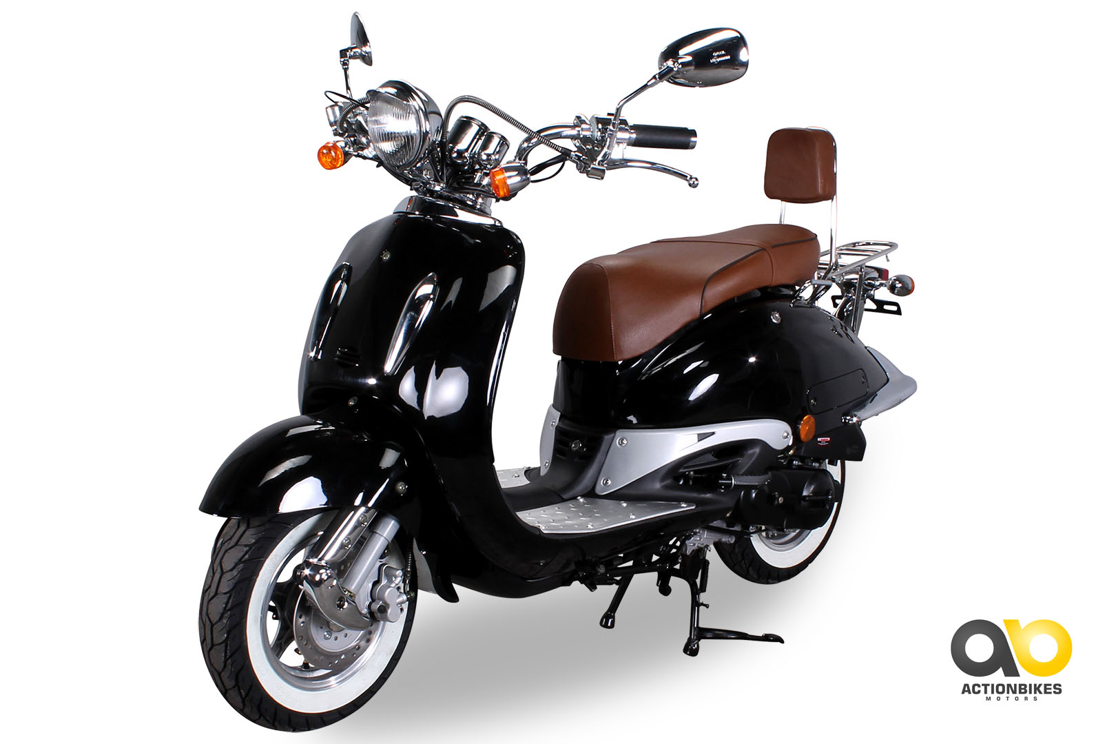 znen retro classic scooter zn50qt e wei wandreifen 25 km h. Black Bedroom Furniture Sets. Home Design Ideas