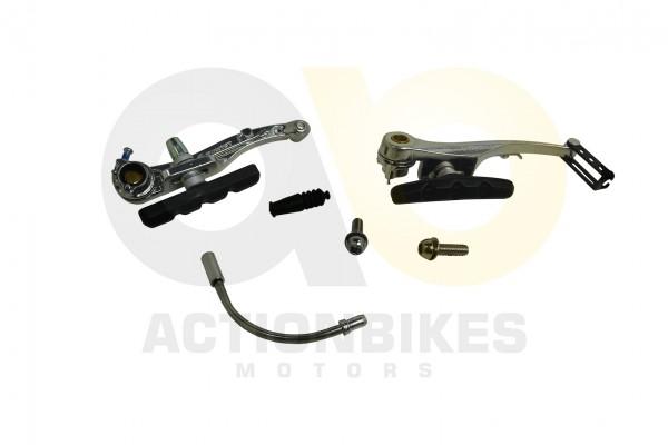 Actionbikes TXED-Alu-Elektro-Fahrrad-e-Forward-F-Bremse-komplett-vorne-hinten 545845442D462D30303031