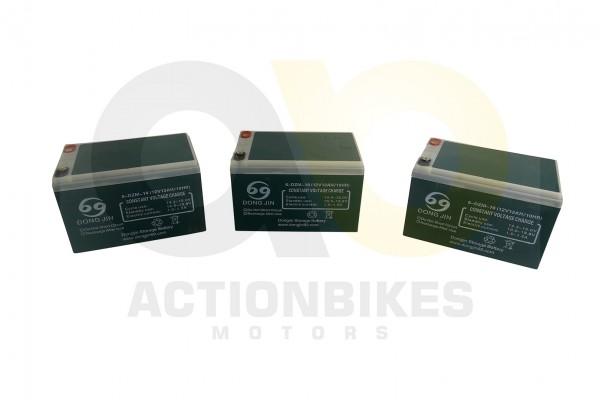 Actionbikes Huabao-Miniquad-Elektro-Batteriepack-36V-3x12V12Ah-E-Scooter-800W--1000W-E-Scooter-Visio