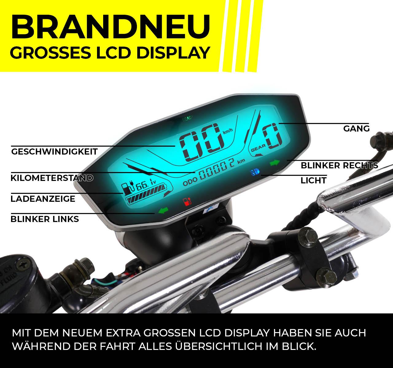 harley elektro scooter roller 45 km h 1500 watt. Black Bedroom Furniture Sets. Home Design Ideas