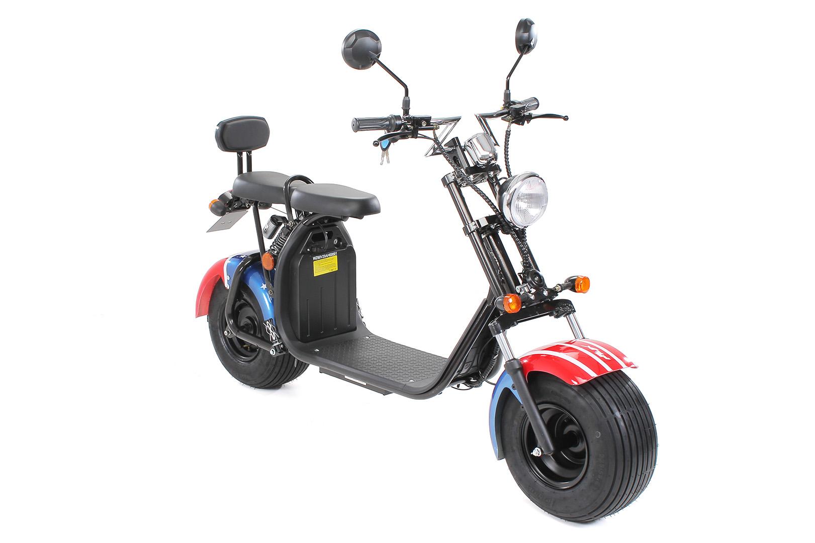 eflux harley two elektro scooter mit stra enzulassung. Black Bedroom Furniture Sets. Home Design Ideas